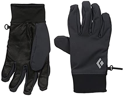 3a47ba64d Black Diamond Midweight Softshell Gloves Smoke S & Cooling Towel Bundle