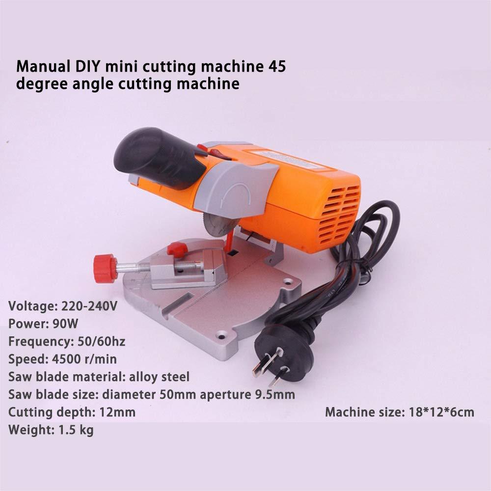 220 v Tischschneidemaschine Werkbank Mini Schneiden 0-45 Gehrungss/äge Stahlblatt 3//8Zum Schneiden von Metall Holz Kunststoff Leicht zu schneiden
