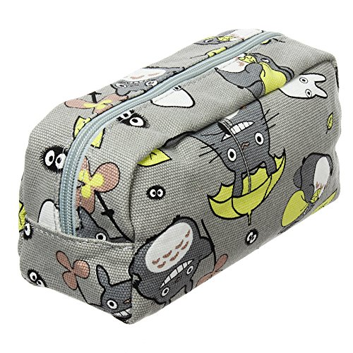 My Neighbor Totoro Pen Bag Pencil Case Cosmetic Makeup Bag Pouch (Green)