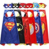 Easony Christmas Birthday Presents Gifts for 3-10 Year Old Boys, Cartoon Super Hero Satin Capes Dress up for Kids Party Favor Toys for 3-10 Year Old Boys ESUKCP06