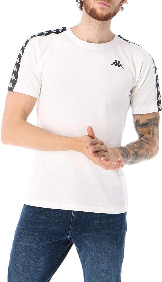 Kappa 222 Banda Coen Slim Camiseta blanca para niño 303UV10-A99 ...