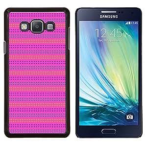 LECELL--Funda protectora / Cubierta / Piel For Samsung Galaxy A7 A7000 -- Pink Purple Pattern Líneas de verano --
