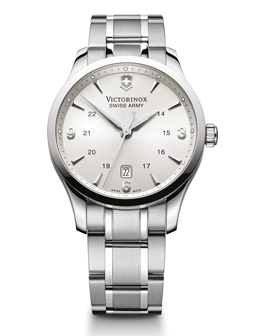 af3afb342 Amazon.com: Victorinox Alliance Silver Dial Stainless Steel Men's Watch  241476XG (Certified Refurbished): Watches