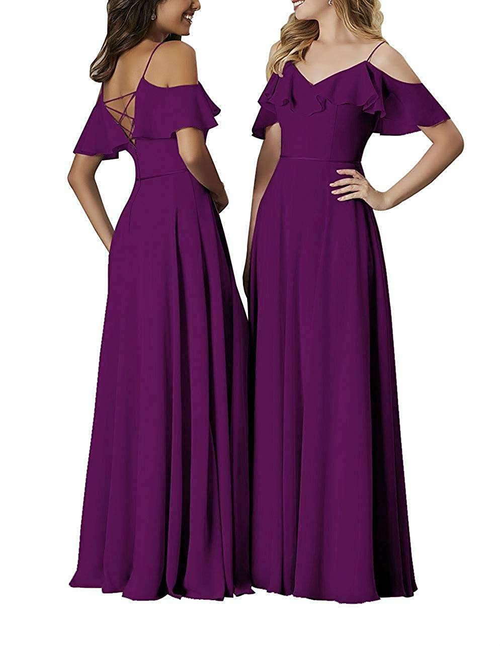Bridesmaid Dresses Long Off The Shoulder Simple Formal Gowns for Women