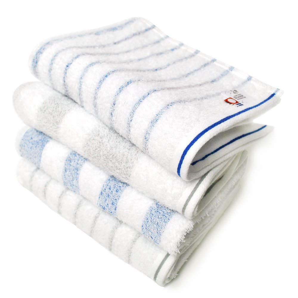 CYBERL / Oruta Exclusive Stripe; Set of 4, Blue and Gray