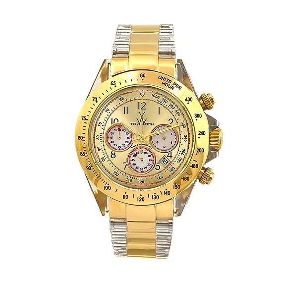 D&G Dolce&Gabbana DW0158 - Reloj digital de mujer de cuarzo con correa de piel blanca -