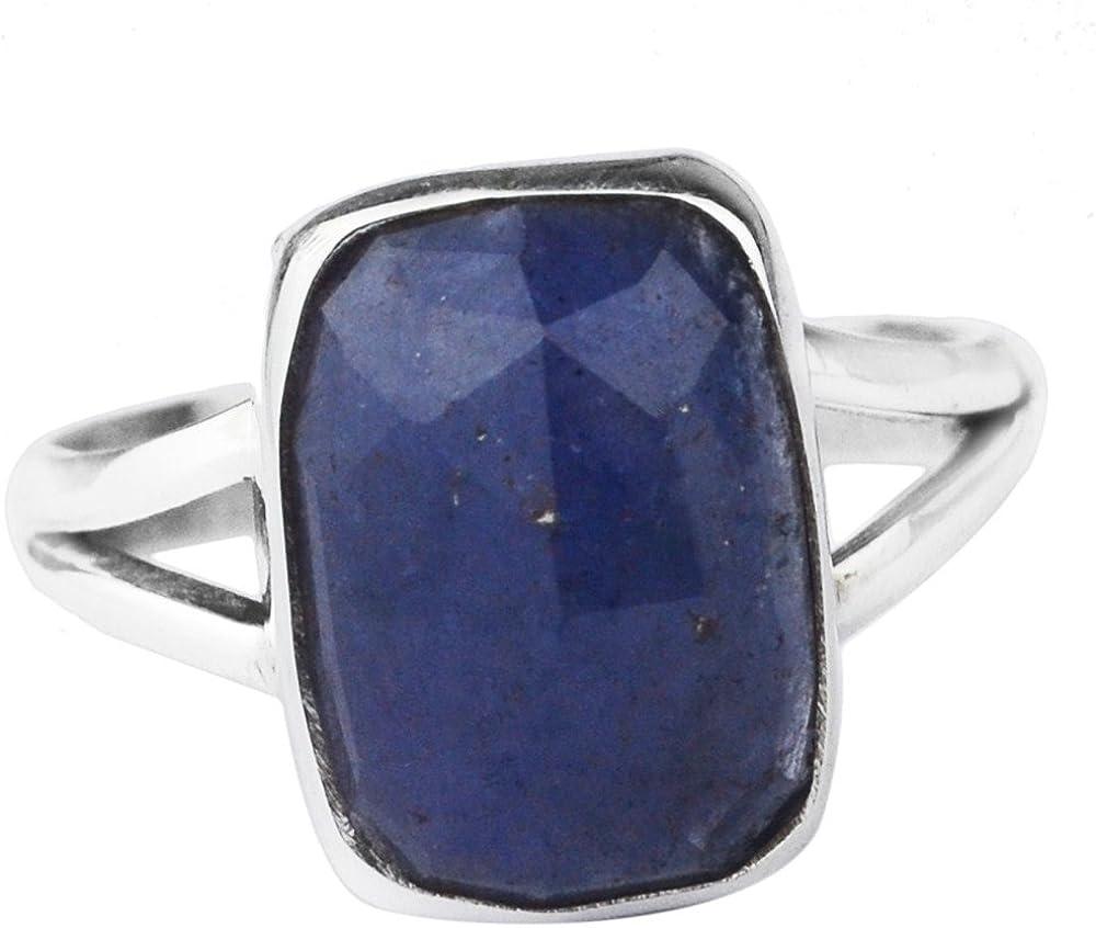 925 Sterling Silver tanzanite gemstone Ring Size 9 US 6.61 g cci