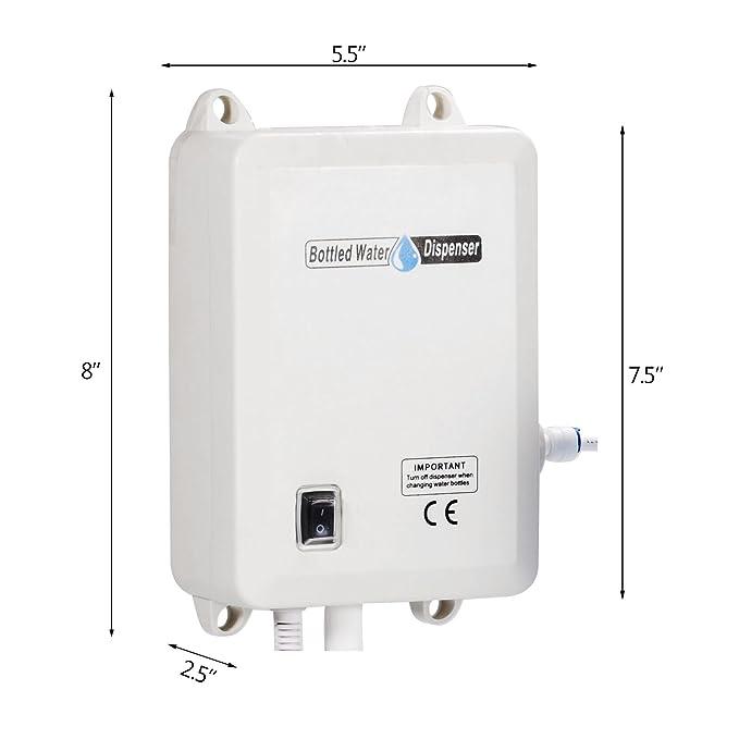 Moracle Dispensador De Agua Eléctrico Embotellada Bomba De Dispensación de Agua de 1 gal/min Sistema de Bomba de Dispensación de Agua de 40 PSI con Tubo de ...