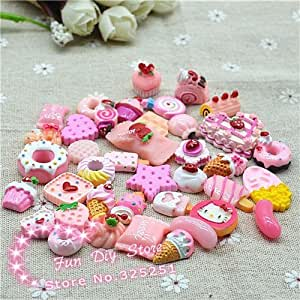 3d Resin Ice Cream Candy Flat Back Food Cabochon Crafts for Decoration