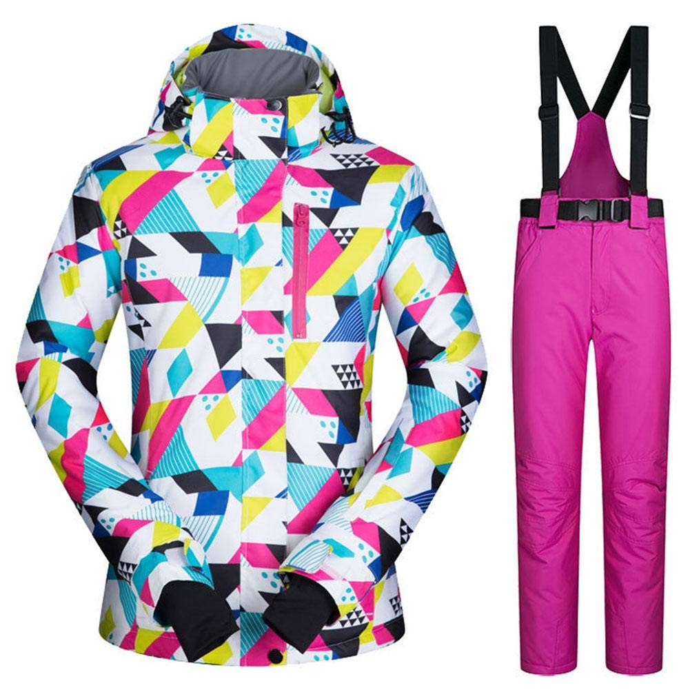70521016c6d TUANMEIFADONGJI Women Outdoor Sports Ski Suit Waterproof Windproof  Breathable Warm Colorful Thicken Snowsuit Winter Ski Jacket+Pants Set for  Rain Snow ...