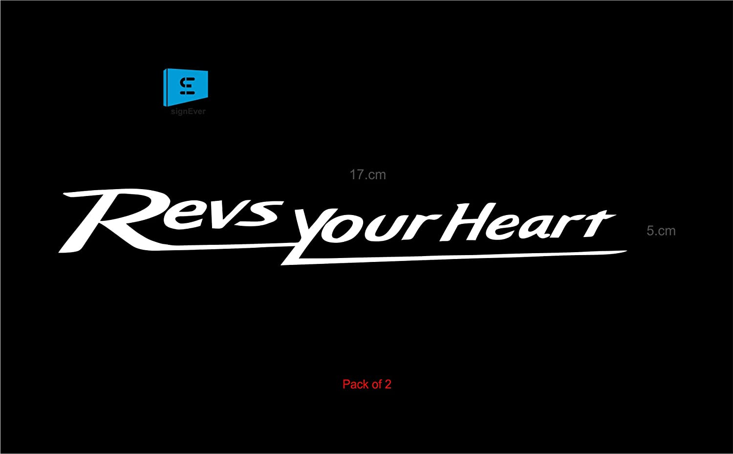 Sign ever bike and helmet decals sticker for yamaha revs your heart fz fzs r15 v2 7x5 cm white pack of 2 amazon in car motorbike