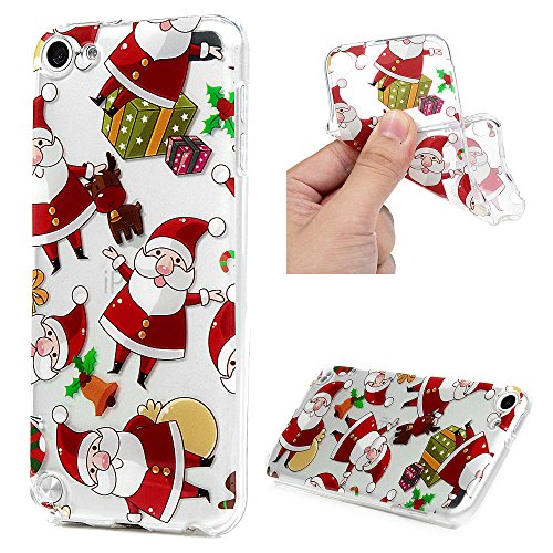 Price comparison product image iPod Touch 5 Case,  MOTIKO Christmas Series Cute Design Painted Pattern Ultra Slim Fit Crystal Silicone TPU Shockproof Anti-Scratch Rubber Skin Cover for Apple iPod Touch 5