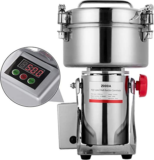 aramox 400/W molinillo el/éctrico potente para granos de especias con cuchillas de acero inoxidable Molinillo