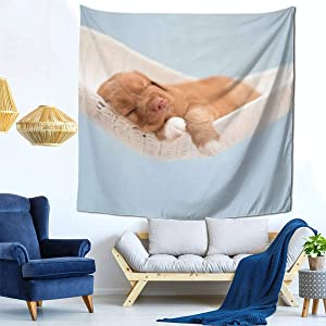 NiYoung Cute Puppy Tapestries, Boho Bedding Tapestry Wall Hanging Tapestries - Throw Home Indian Decoration Retro Art for Living Room Bedroom Dorm Room 59 x 59 inches