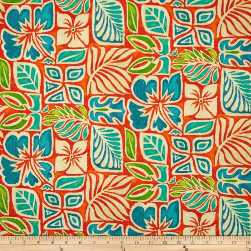 Tommy Bahama Home Sun Blocks Coral Reef Fabric By The (Tommy Bahama Leaf)