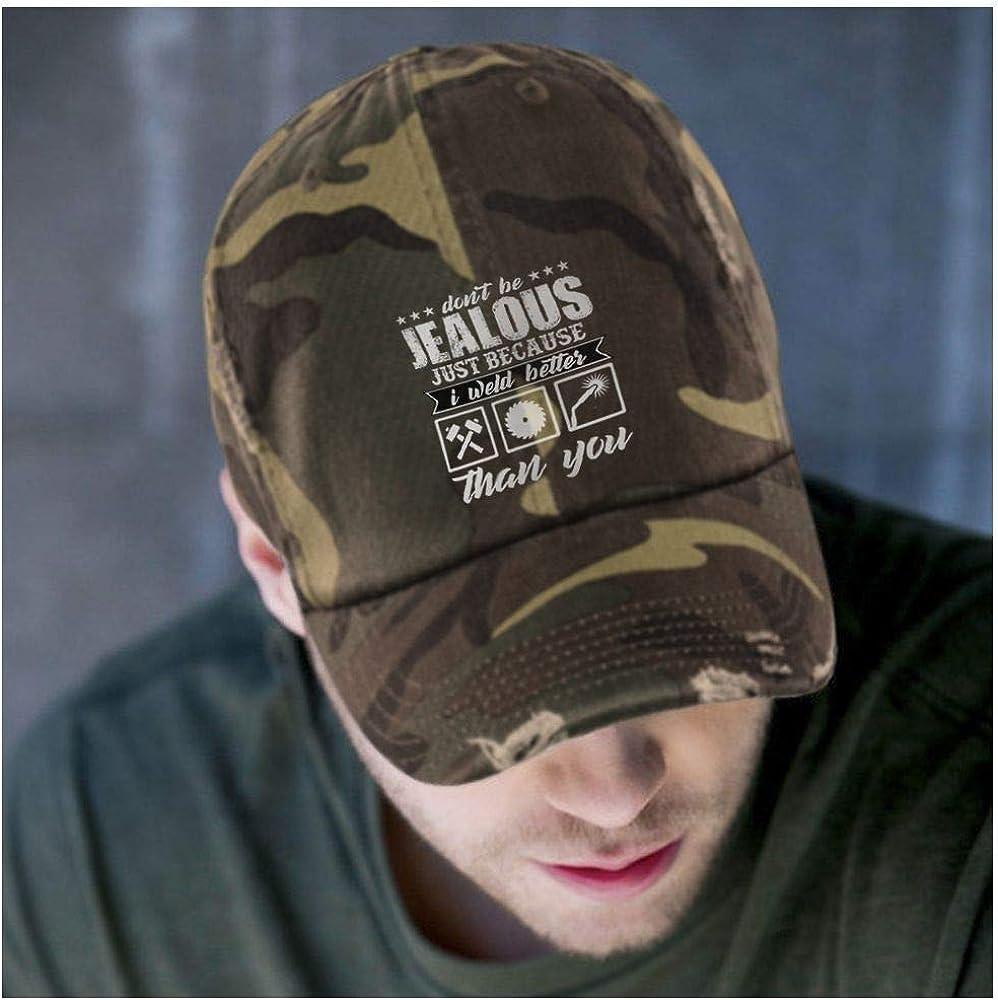 I Weld Better District Distressed Dad Cap FLOSTORE Im A Welder Hat