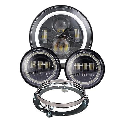 amazon com dot appoved black harley daymaker 7inch led headlight rh amazon com 9V LED Wiring Diagram Simple LED Circuits