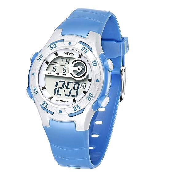 Reloj Digital para niños y niñas, Resistente al Agua, 5 ATM, Reloj de
