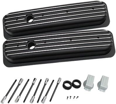 Proform 141-131 Chevy GM Performance Black Valve Covers Sbc 305 350 Center bolt