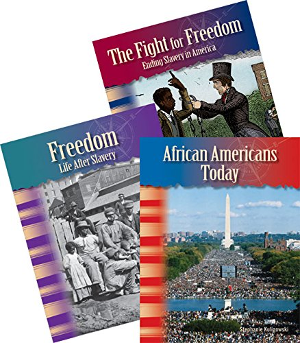 Teacher Created Materials - Primary Source Readers: African American History - 3 Book Set - Grades 4-5 - Guided Reading Level R - T ()