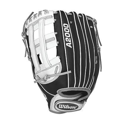 Wilson A2000 Superskin Outfield Fastpitch Softball Glove Black Matte Grey White Left