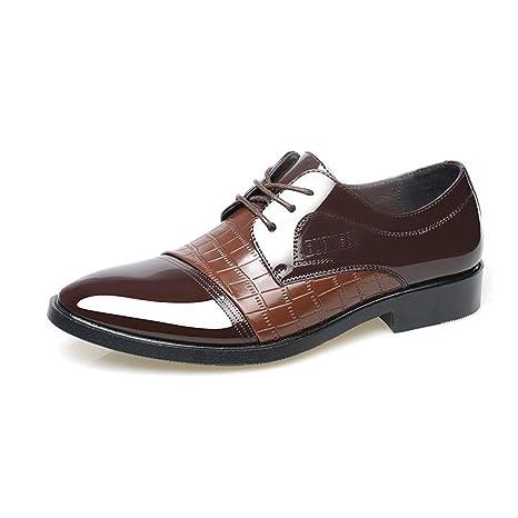 XUE Zapatos de Piel de Hombre Primavera Verano Mocasines Zapatos de conducción Zapatos Cordones Cordones Casual