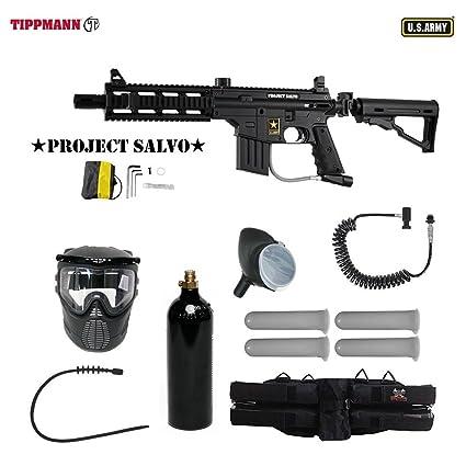 Amazon Com Us Army Project Salvo Paintball Marker Gun 4 1 Mega Set