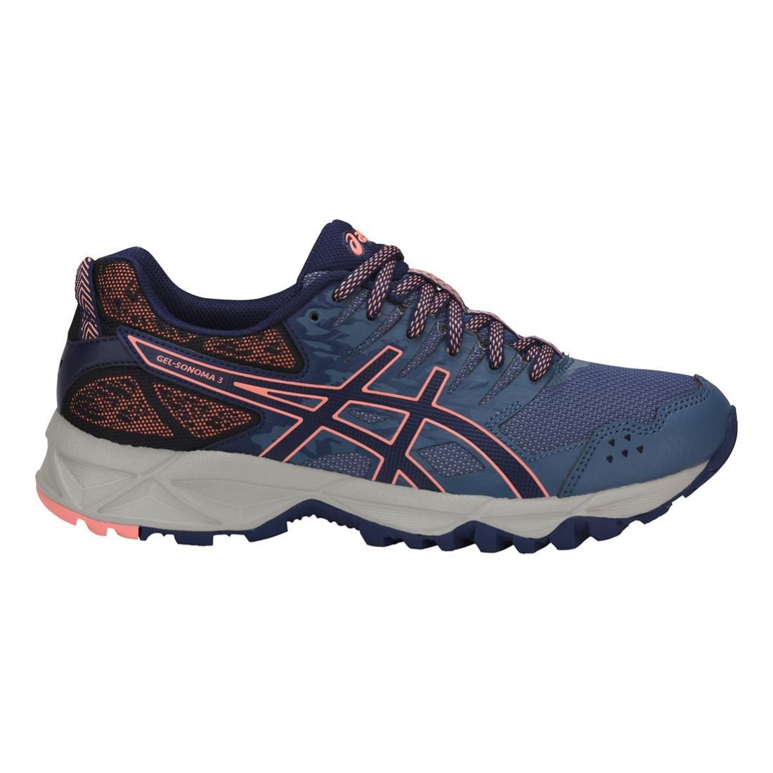 ASICS Women's Gel-Sonoma 3 Trail Runner B071FCL8CB 5.5 B(M) US|Smoke Blue/Indigo Blue/Begonia Pink