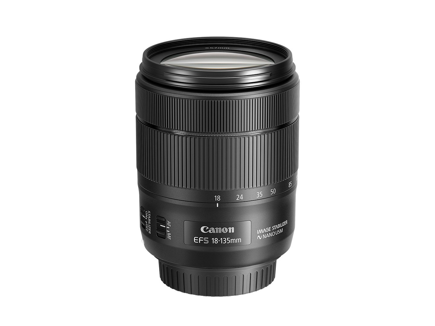 Canon EF-S 18-135mm f/3.5-5.6 Image Stabilization USM Lens (Black) by Canon