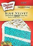 Duncan Hines Signature Blue Velvet Cake Mix, Buttery Vanilla Flavor, 16.5 oz