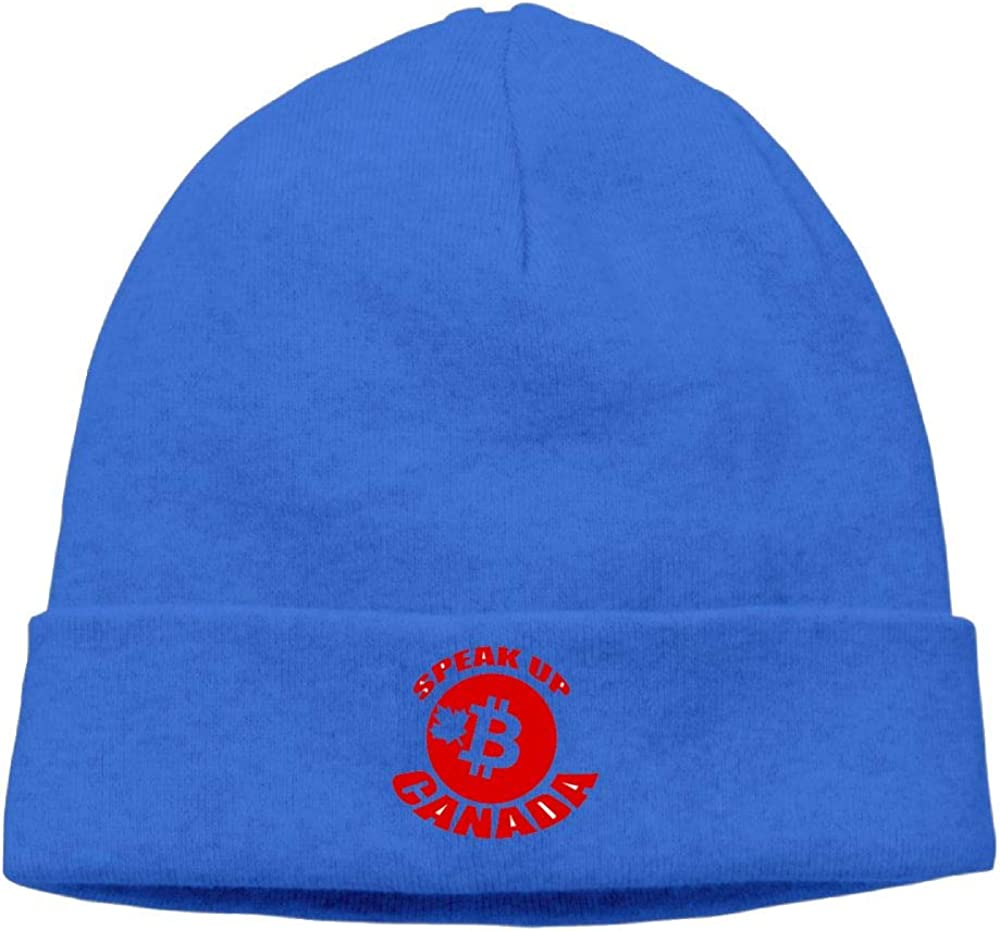 nordic runes Bitcoin Beanie Hat Winter Warm Knit Skull Cap for Mens//Womens