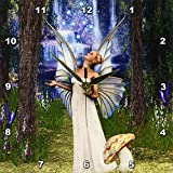 3dRose dpp_167132_1 Beautiful White Fairy, in Mushroom Forest Blessing with Fairy Dust-Wall Clock, 10 by 10-Inch Review