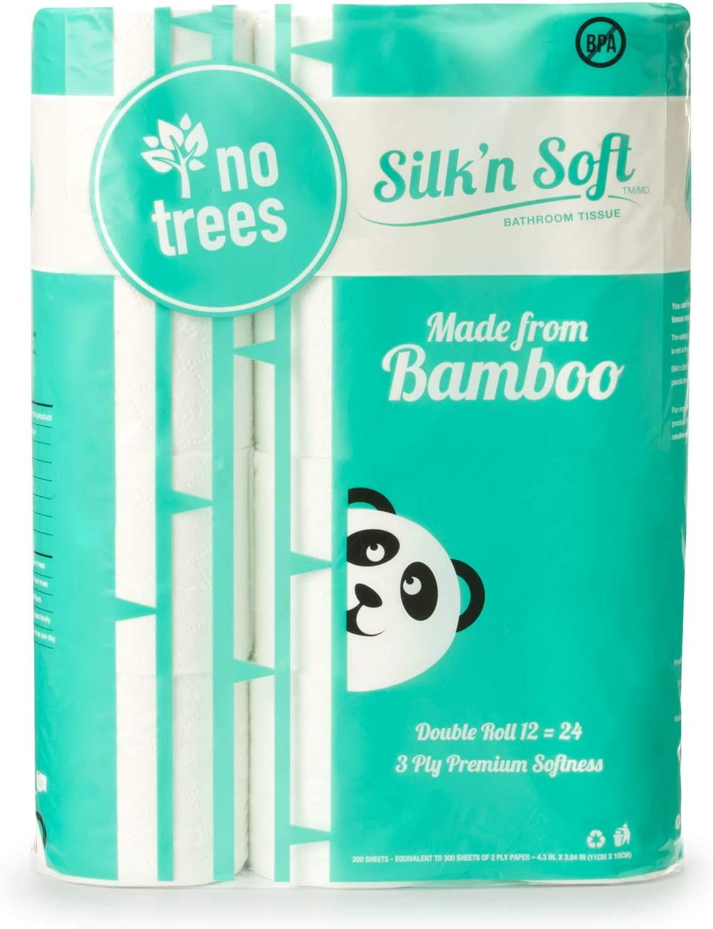 Silk'n Soft Bamboo Toilet Paper is a biodegradable toilet paper made out of bamboo