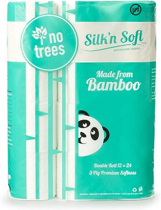 Bulk Rolls Bath Tissue Bathroom Soft 3 Ply Toilet Paper Unbleached virgin bamboo