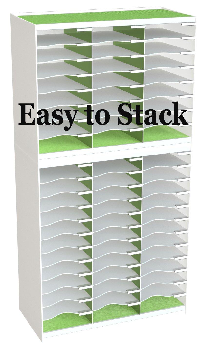 Paperflow Master Literature Organizer, 36 Compartment, White/Green (803.13.08)