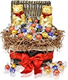 Christmas Gift Basket – 2 LINDT Teddy Bears 7 oz with 20 Lindt Assorted Chocolate Truffles