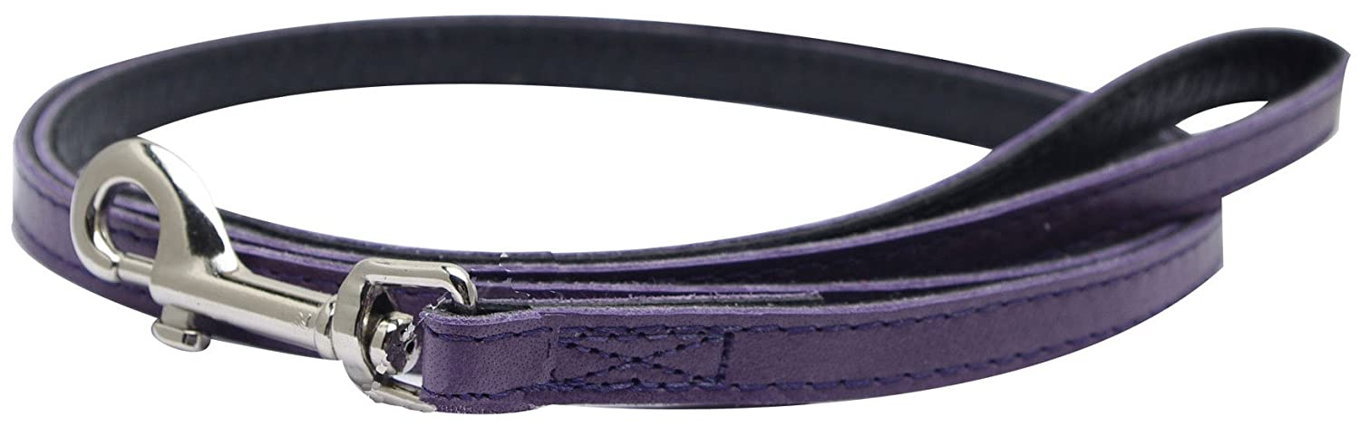 Dogit Leather Style Dog Leash, 48-Inch, Purple