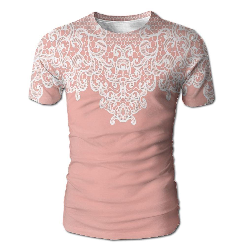 Edgar John Abstract Lace Design Wedding Engagement Inspiration Floral Arrangement Pale Backdrop Men's Short Sleeve Tshirt XXL