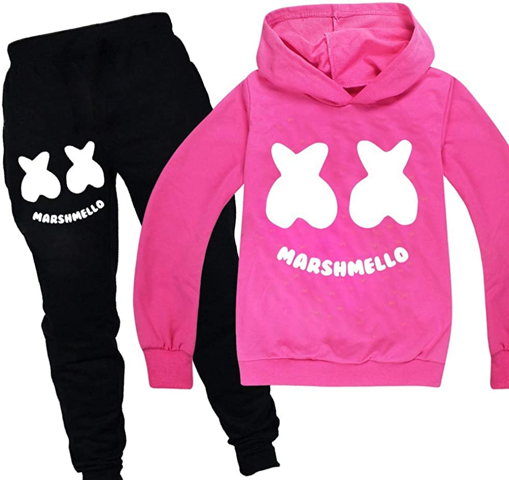 Boys Girls Hoodie Tracksuits Long Sleeve Top and Trousers Sets for Kids