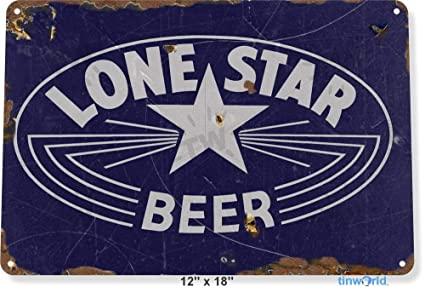 TIN SIGN Lone Star Beer Sign Old Bar Pub Beer Store Cave A107