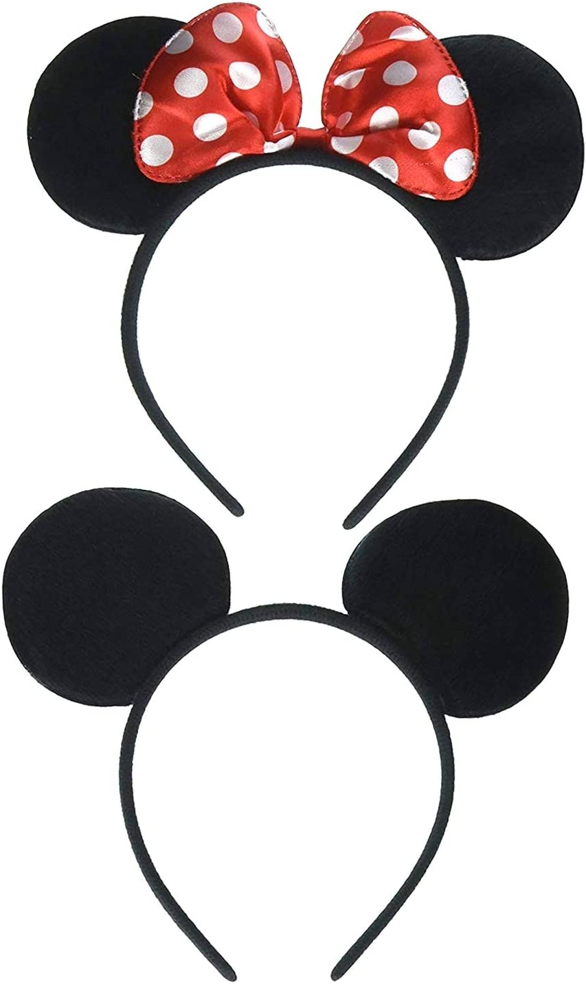 Party Artificial Flower limited Black Minnie Mouse Ears Cos Gift Mickey Headband