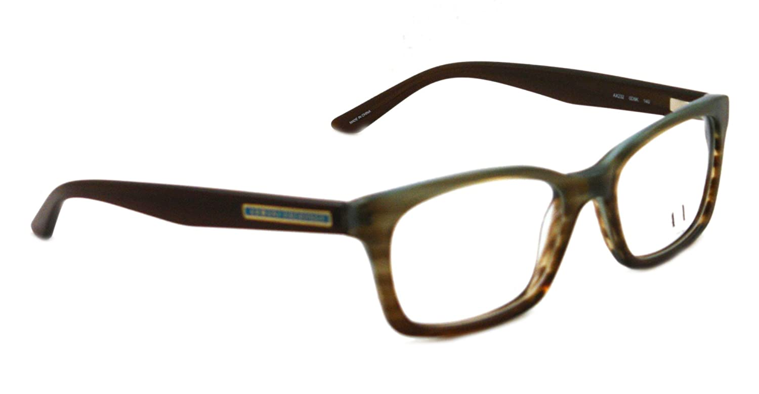 Amazon.com: Armani Exchange AX232 Eyeglasses-0D9K Azure Brown-50mm ...