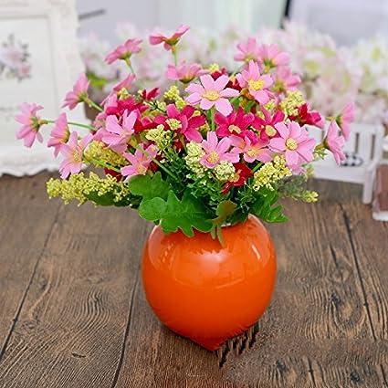 Las decoraciones caseras orb jarrones desk gastar una pequeña flor fresca sala suite de emulación para