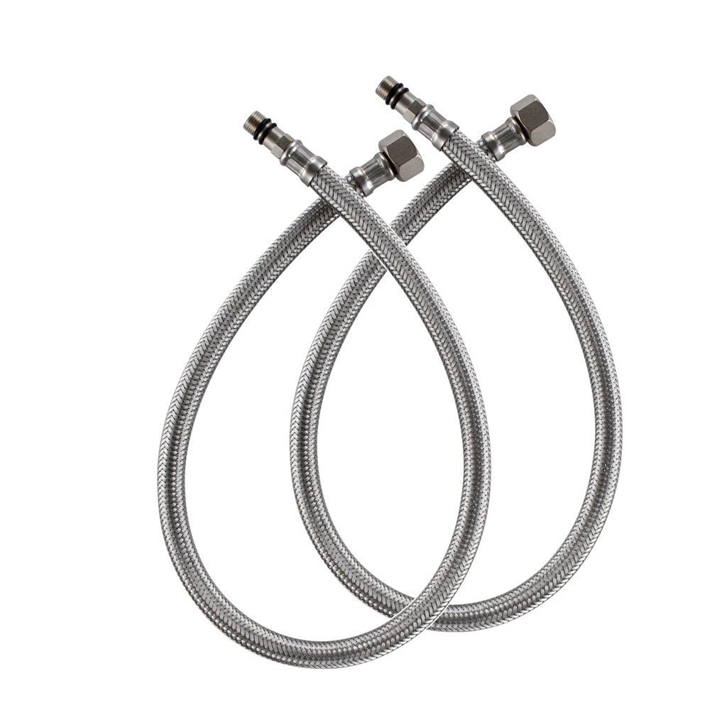 KES IUS1032-P2 Faucet Connector, Braided Stainless Steel Supply Hose ...