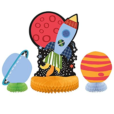 "Assorted Outer Space Centerpiece Party Decorations 10"" and 6"", 3 Ct.: Toys & Games"