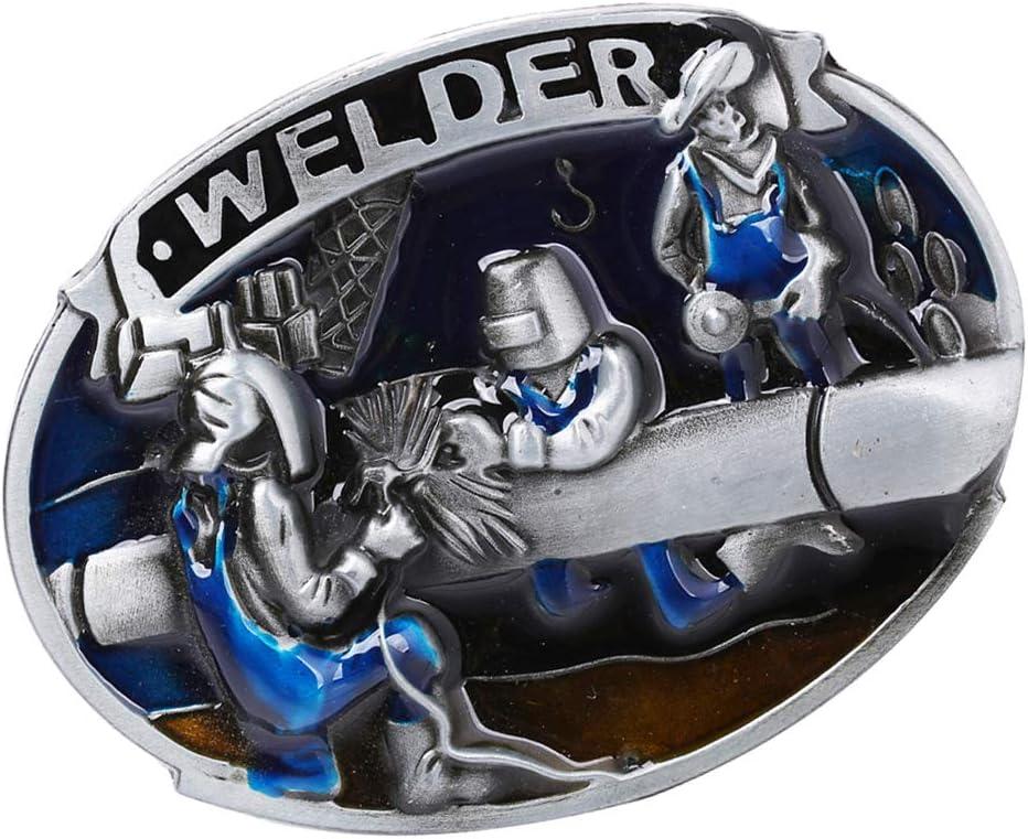 perfektchoice Retro Cool Welder American Cowboy Mens Rodeo Indian Belt Buckle Belt Accs