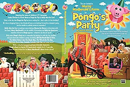 Pongos Party Dvd Featuring Childrens Tvs Justin Fletcher As The