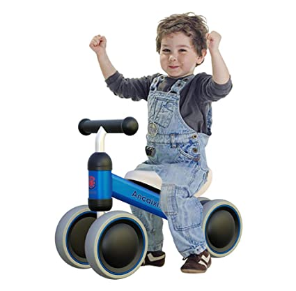 Ancaixin Baby Balance Bikes Bicycle Children Walker 10 Month 24 Months Toys For 1 Year Old No Pedal Infant 4 Wheels Toddler First Birthday New Gift