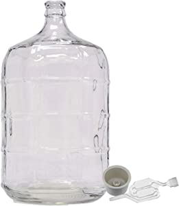 Home Brew Ohio 3 Gallon Glass Carboy with Drilled Bung and Twin Bubble Airlock