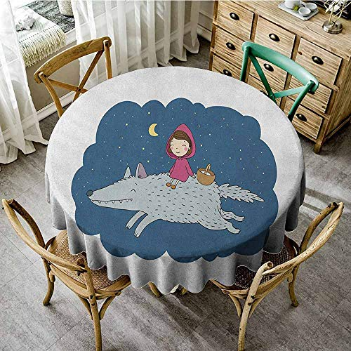 Oilproof/Waterproof Round Tablecloth 50